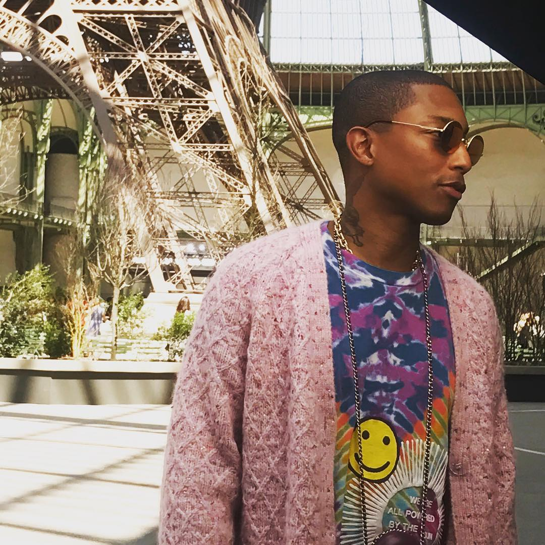 O cantor Pharrell Williams, de 44 anos (Foto: Instagram)
