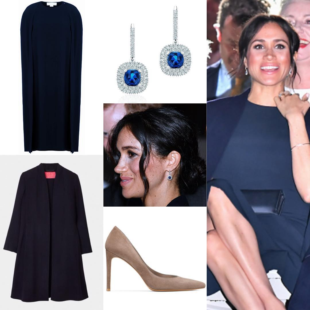 Vestido Stella McCartney, sapatos STUART WEITZMAN (Foto: Instagram/@meghanmarkle_fashion)
