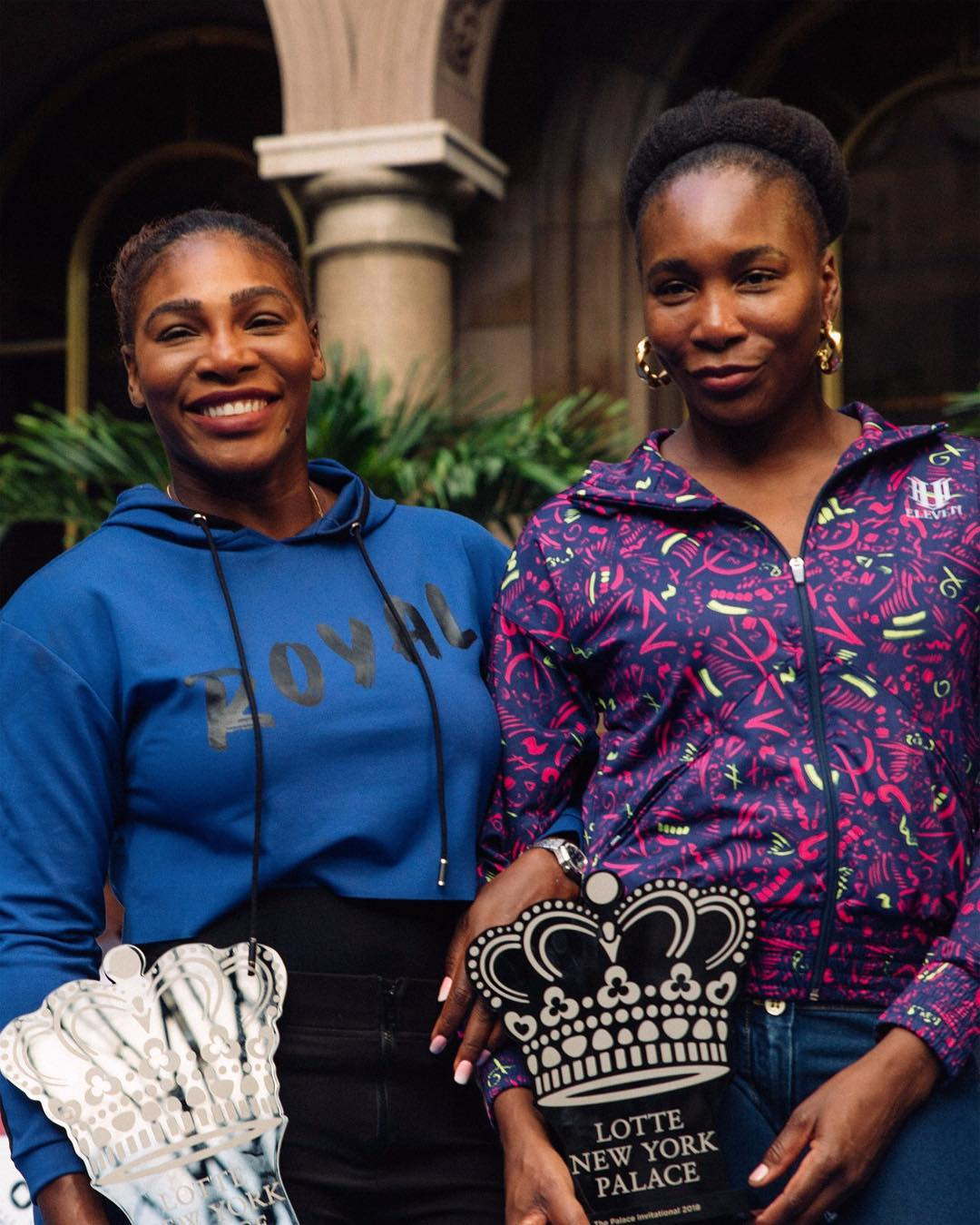 As irmãs Serena Williams, de 37 anos, e Venus Williams, de 38 (Foto: Instagram/@serenawilliams)