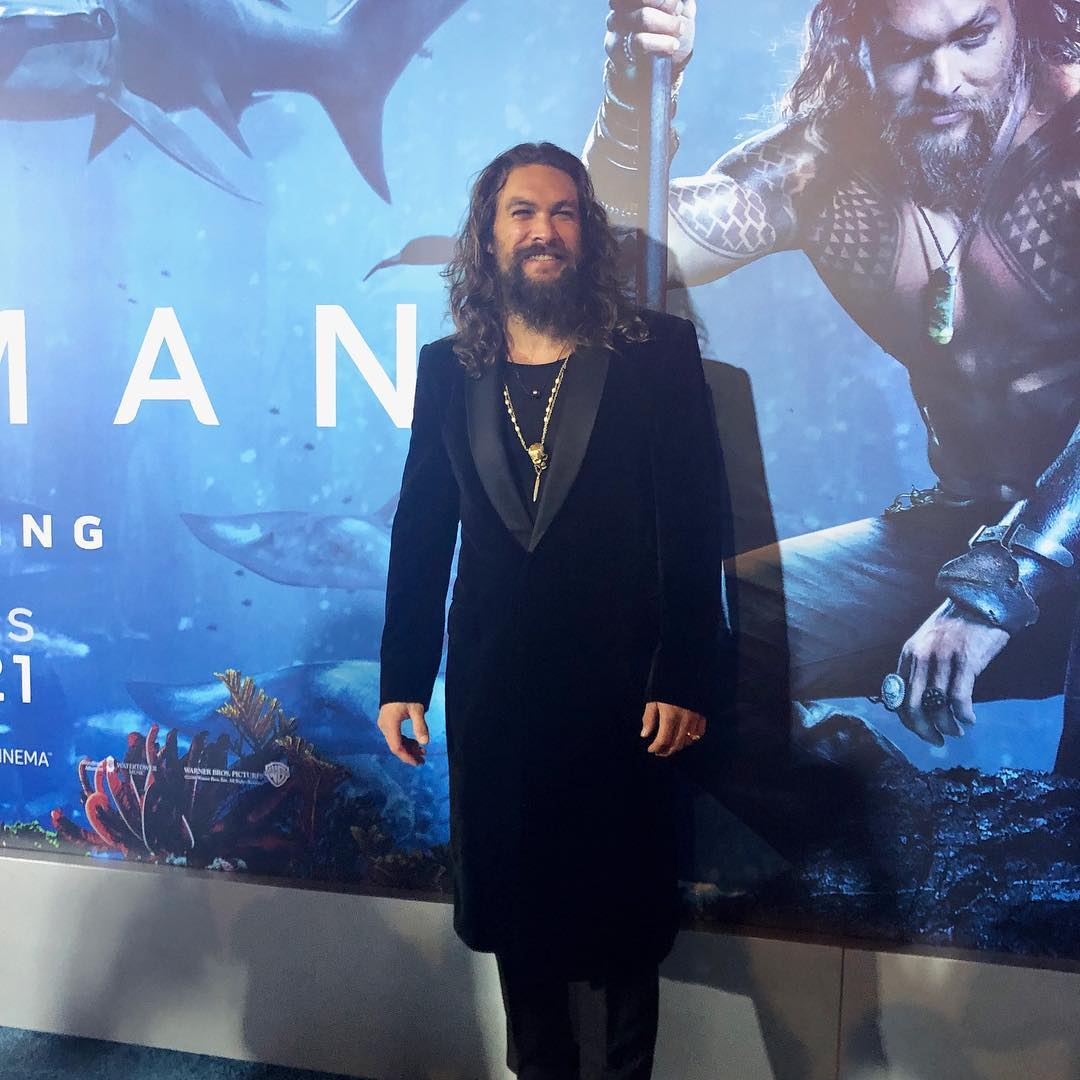 Jason Momoa, de 39 anos, interpreta Aquaman (Foto: Instagram/@aquamanmovie)
