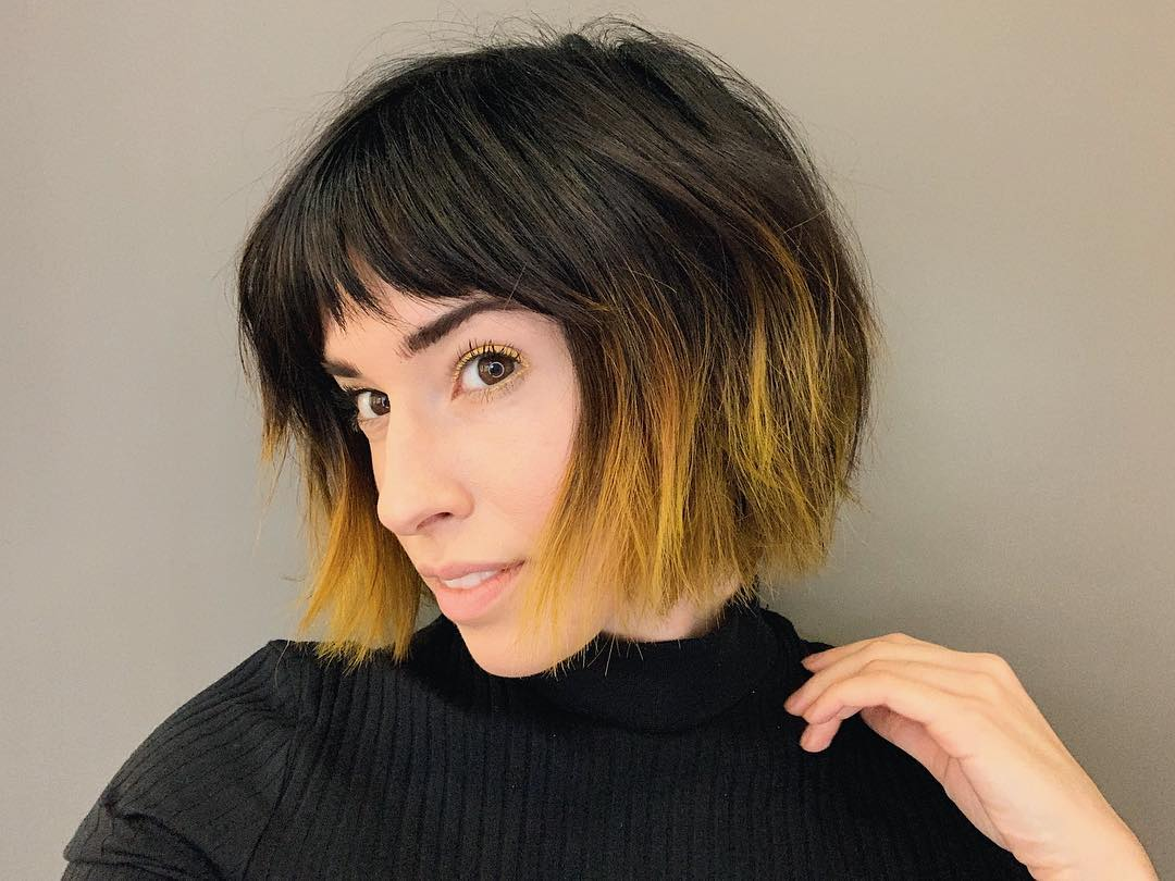Mechas para as mais discretas (Foto: Instagram/@bishwithbangs)