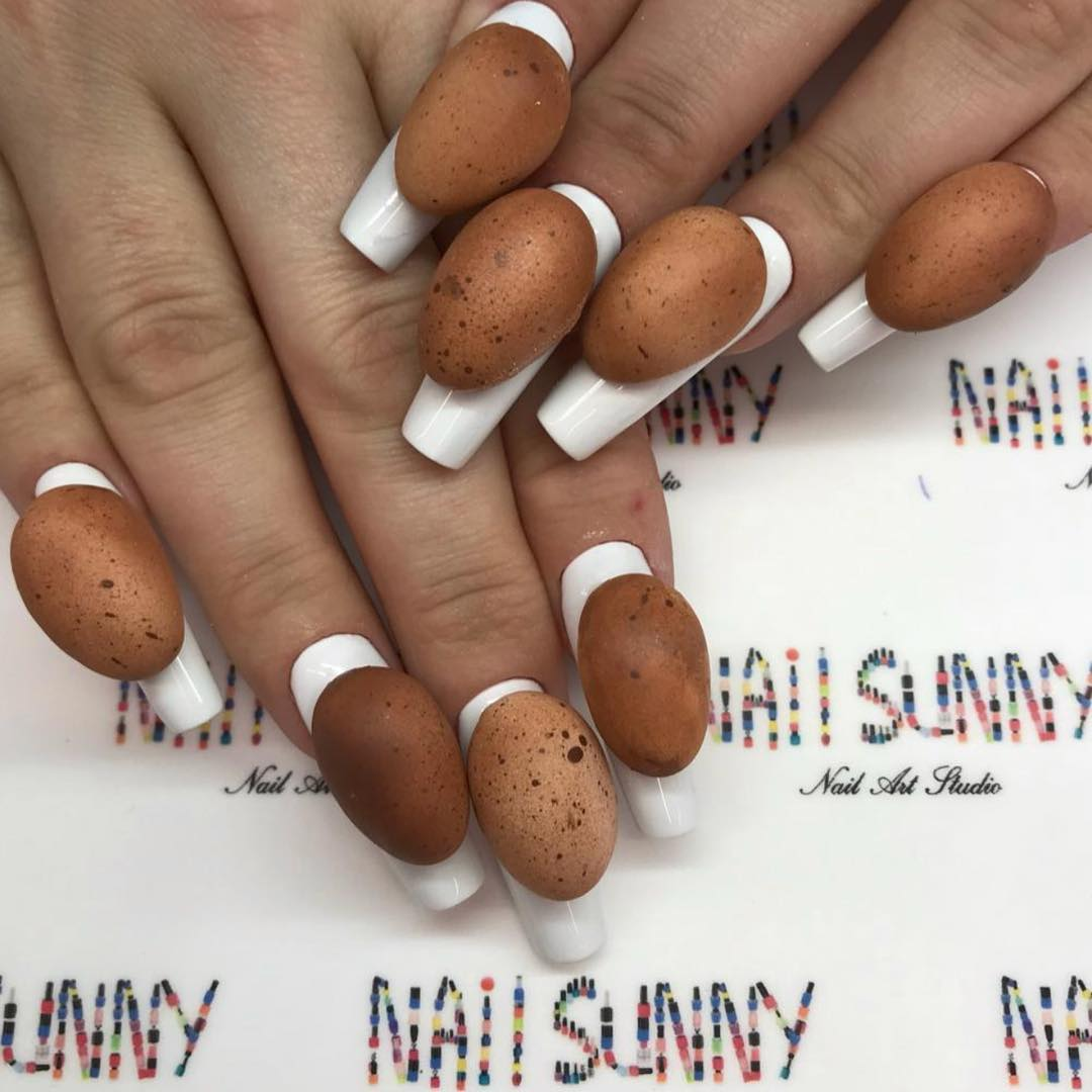 As unhas de ovo causaram alvoroço na internet (Foto: Instagram/@nail_sunny)