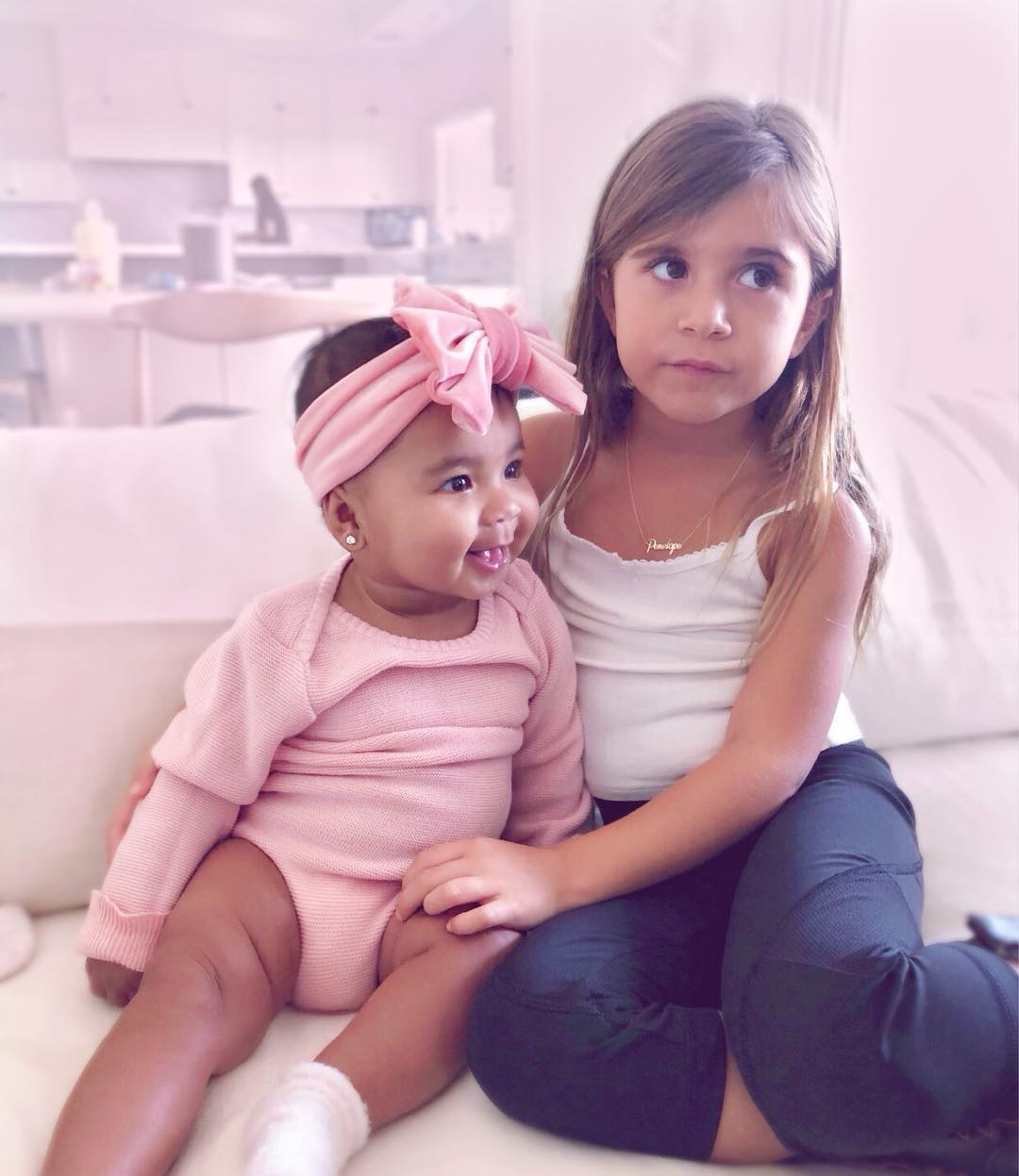 Penelope e True as mais fofas (Foto: Instagram/@khloekardashian)