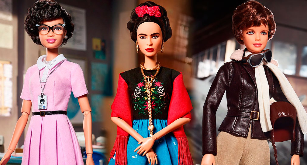 A boneca mais famosa do mundo já homenageou Frida Kahlo, Amelia Earhart e Katherine Johnson (Foto: Instagram/@barbie)