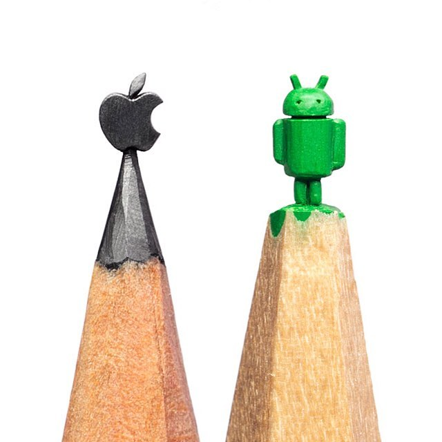 Apple ou Android? (Foto: Instagram/@salavat.fidai)