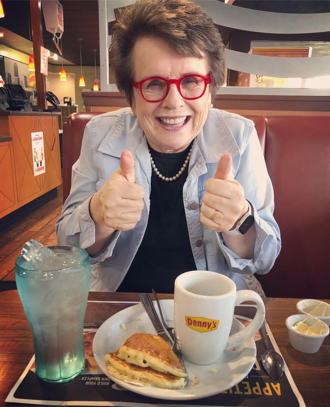 A tenista Billie Jean King, de 75 anos (Foto: Instagram/@billiejeanking)