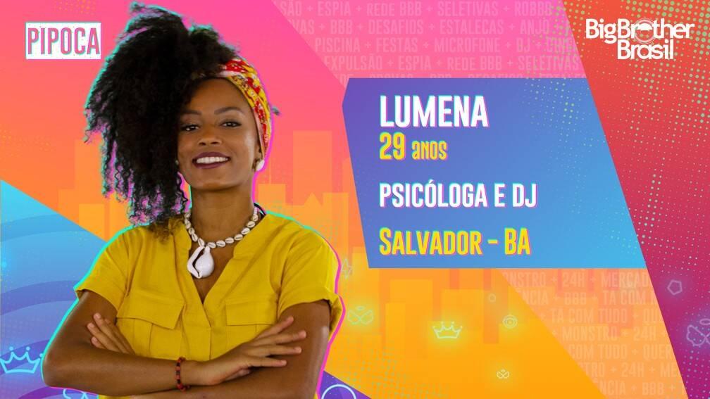 Lumena - Psicóloga e DJ, 29 anos, natural de Salvador, Bahia. Após se dedicar a uma carreira acadêmica, Lumena vem se legitimando, mais recentemente, com outra identidade profissional: a discotecagem de pagodão baiano. Ela é do grupo Pipoca. (Foto: Globo)