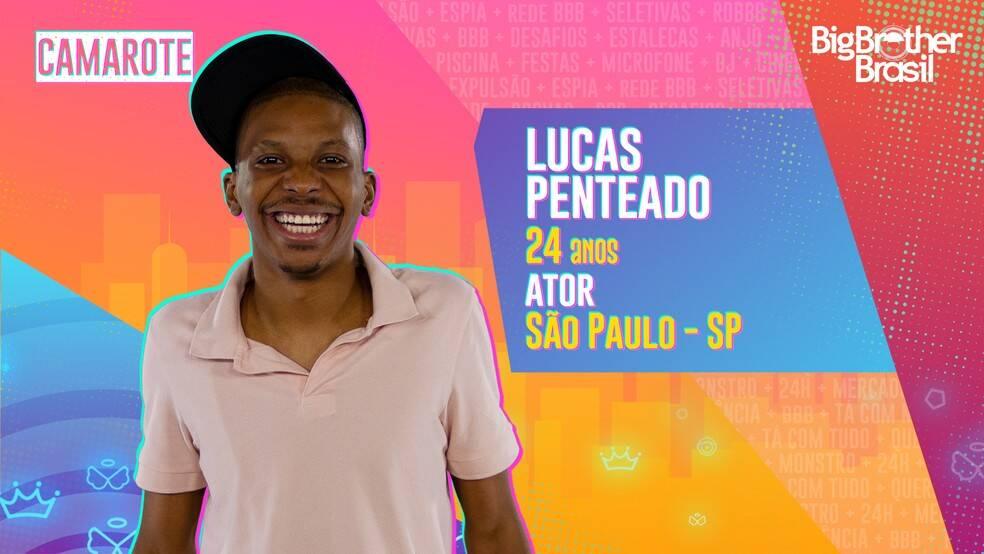 Lucas Penteado - Aos 24 anos, Lucas Penteado é dono de um currículo extenso. O participante é ator, cantor, poeta, MC, slammer, apresentador, diretor e dramaturgo. Ele é do grupo Camarote. (Foto: Globo)