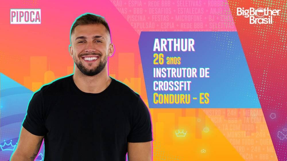 Arthur - Instrutor de crossfit e ex-jogador de futebol , Arthur, de 26 anos, também chama atenção pela beleza. O capixaba já conquistou o título de Mister Espírito Santo, em 2016. Ele é do grupo Pipoca. (Foto: Globo)