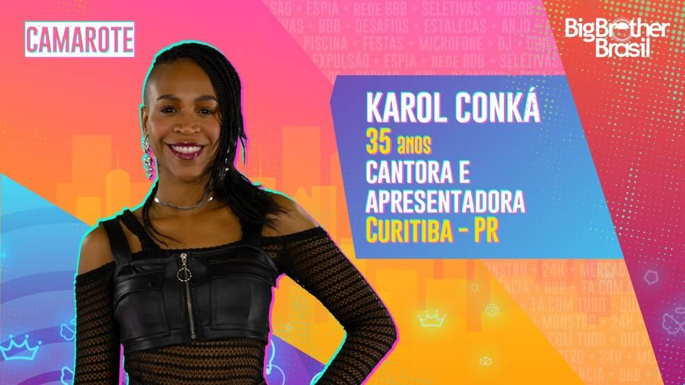 Karol Conká - Karol é cantora e apresentadora. A curitibana, moradora de São Paulo, usa sua visibilidade para falar sobre a diversidade. Ela é do grupo Camarote. (Foto: Globo)