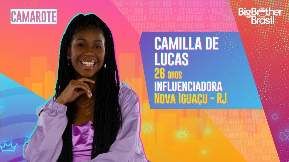 """Camilla de Lucas - Camilla de Lucas, a """"blogueirinha real"""", como ela se descreve, é de Nova Iguaçu, no Rio de Janeiro, e virou um fenômeno da internet durante a pandemia. Ela é do grupo Camarote. (Foto: Globo)"""