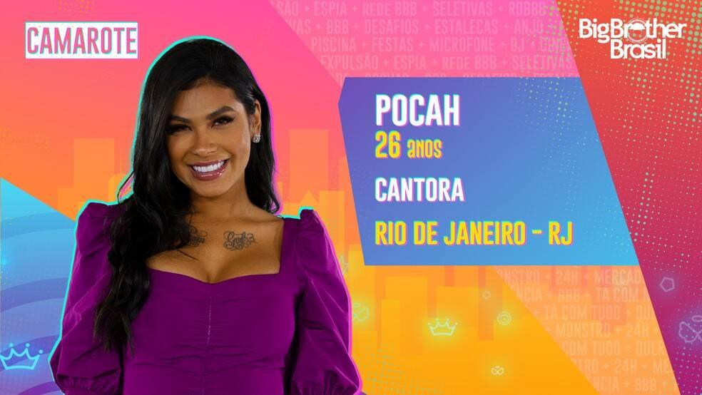Pocah - A cantora, de 26 anos, tem mais de 20 milhões de seguidores. Nascida em Queimados e criada em Duque de Caxias, no Rio de Janeiro, Pocah é funkeira e apaixonada por rock. Ela é do grupo Camarote. (Foto: Globo)