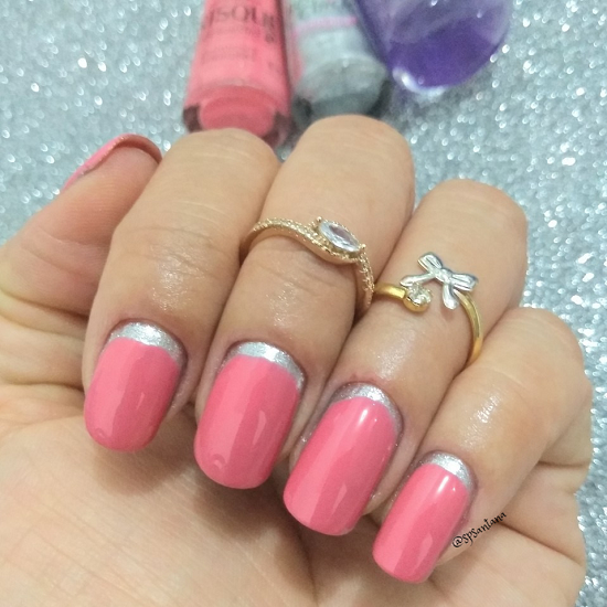 A nail art é discreta e charmosa. (Foto: Instagram/ @spsantana)