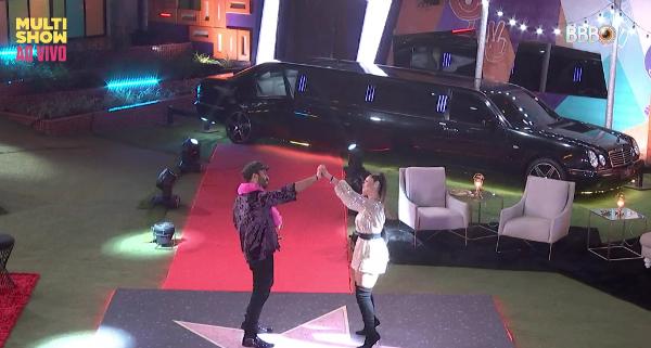 Gilberto e Juliette dançaram muito juntos (Foto: Reprodução/Globoplay)