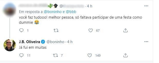 Boninho fez uma revelação inusitada em seu Twitter na quarta-feira, 24. (Foto: Reprodução/ Twitter)