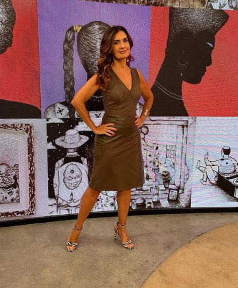 A apresentadora surpreendeu a todos com seu talento em seu programa (Foto: Instagram/ @fatimabernardes)