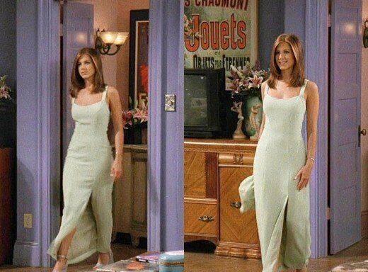Ela usou muitos vestidos lisos e longos (Foto: Reprodução/ Pinterest)
