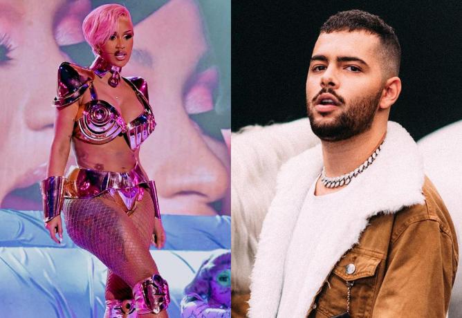 Cardi B y Megan Thee Stallion interpretaron la canción Wap en los Grammy 2020, con la parte del DJ Pedro Sampaio remezclada.  (Imagen: Play / Instagram)