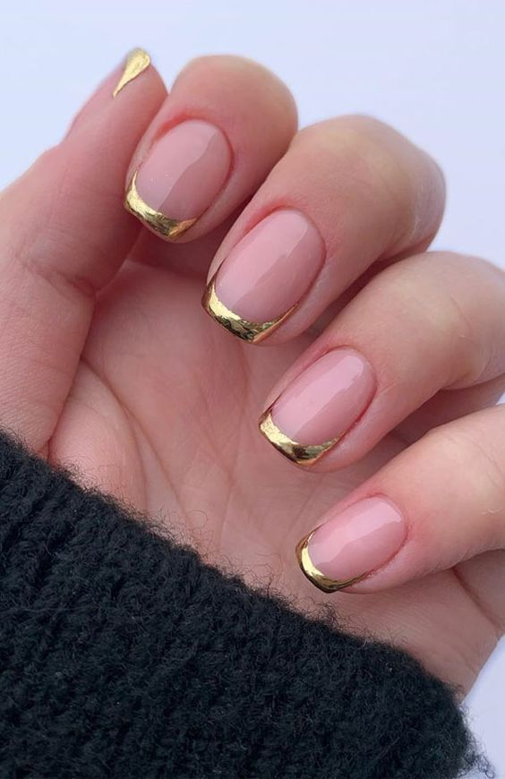 O branco pode ser substituído por uma pontinha dourada. (Foto: Reprodução/ Pinterest)
