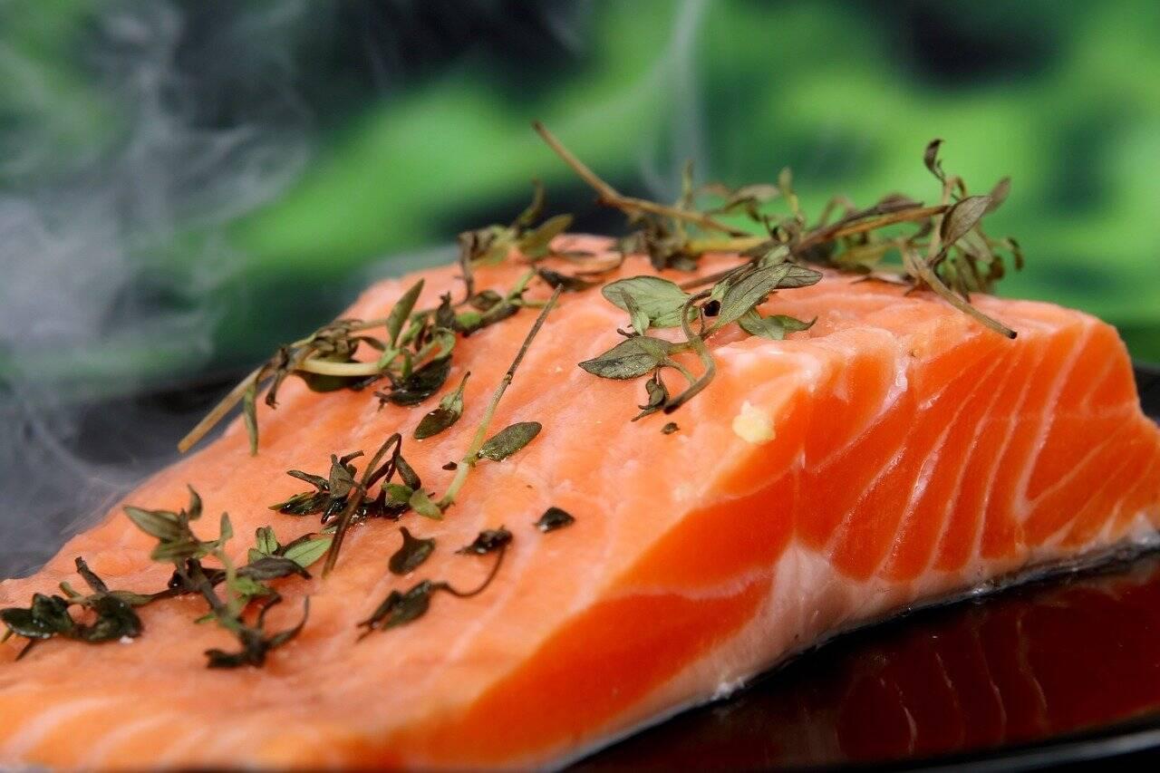 O salmão é indicado porque é rico em ômega 3 (Foto: Pixabay)