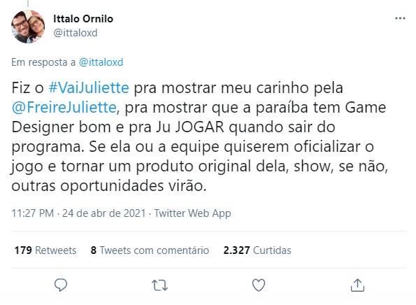 O aplicativo foi desenvolvido pelo fã Ittalo Ornilo, da Ornilo Games. (Foto: Reprodução/ Twitter)