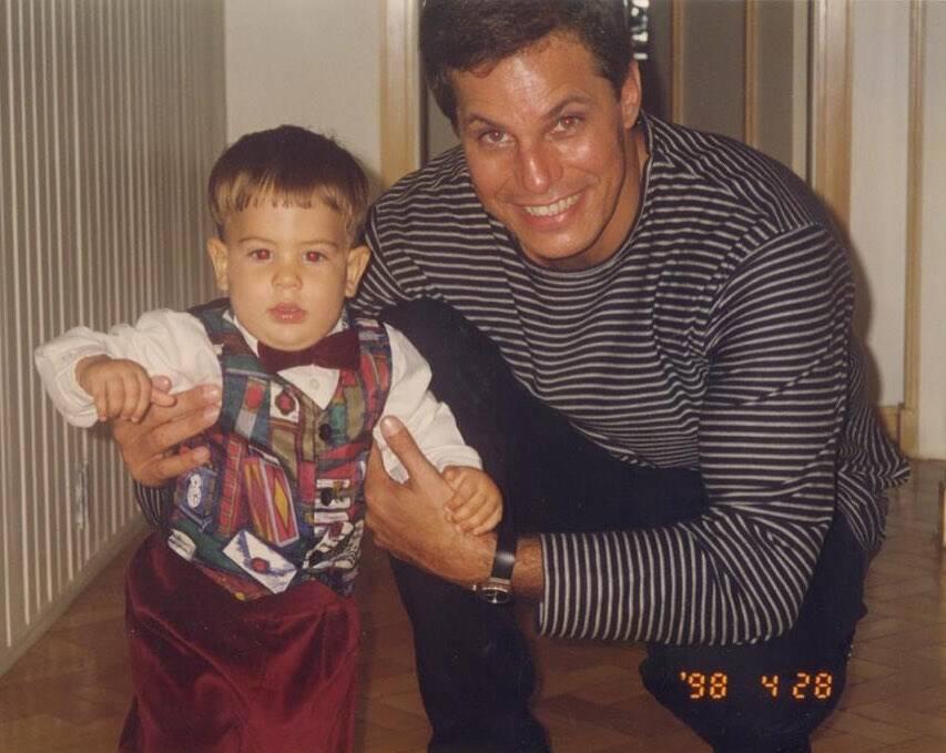 Edzon Celulari e Enzo quando criança (Foto: Instagram)