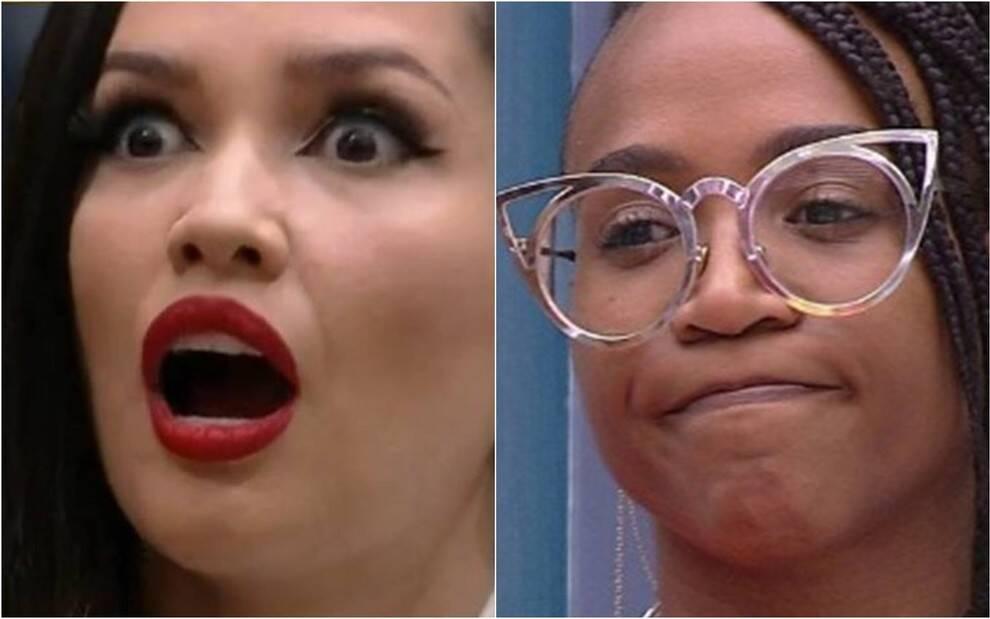 Juliette ficou em choque com as palavras de Karol. (Foto: Globo)
