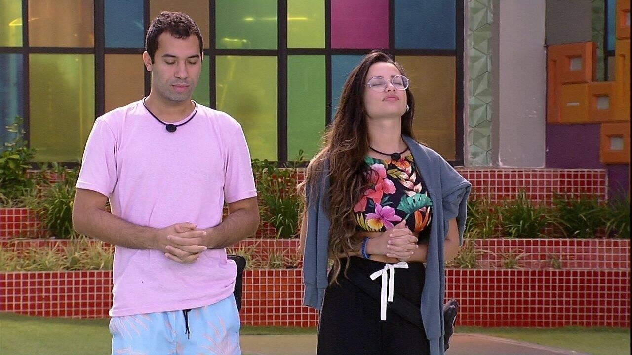 Gilberto e Juliette foram amigos ao longo do 'BBB21'. (Foto: Globo)