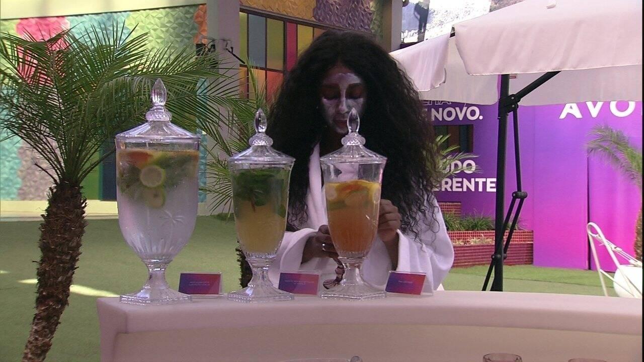 E máscaras de hidratação e limpeza (Foto: Reprodução/Globo)