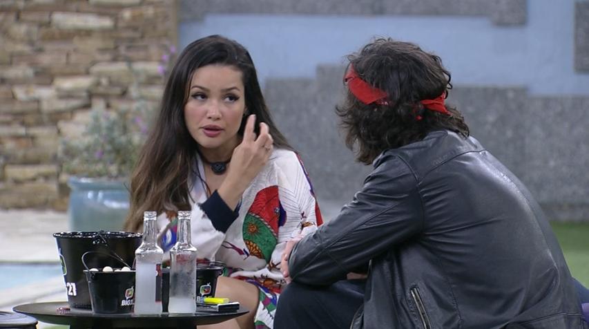 Na madrugada desta terça, Fiuk e Juliette relembraram situações que aconteceram ao longo do jogo do BBB 21. (Foto: Reprodução/ Globo)