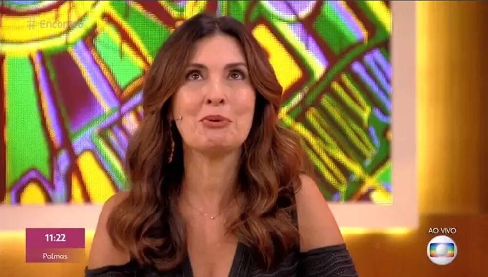 """com mensagem dos filhos em seu programa matinal """"Encontro"""". (Foto: Reprodução/ Globo)"""