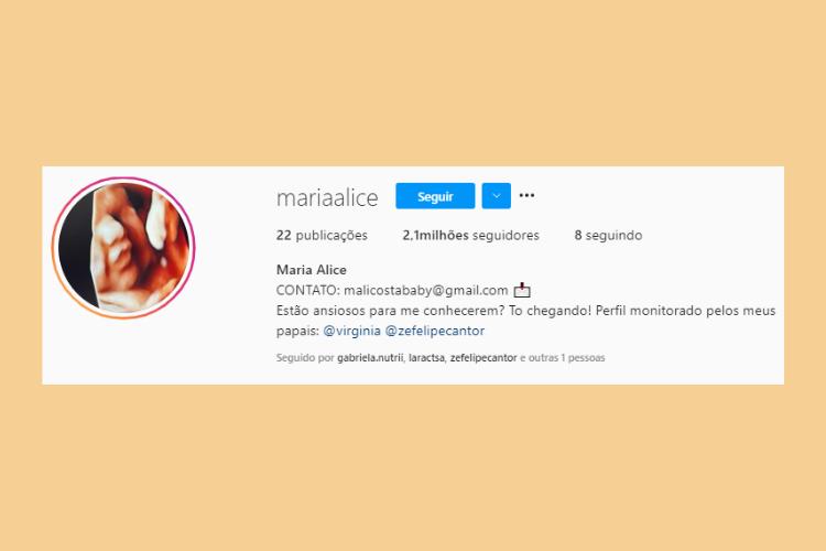 O perfil de Maria Alice no Instagram ultrapassou os 2 milhões de seguidores. (Foto: Instagram)