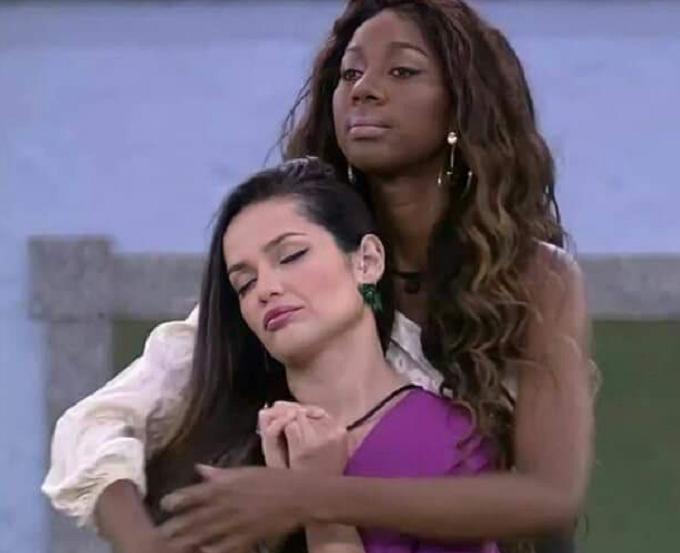 Camilla de Lucas e Juliette elogiaram a amizade que fizeram no BBB 21. (Foto: Reprodução/ Globo)