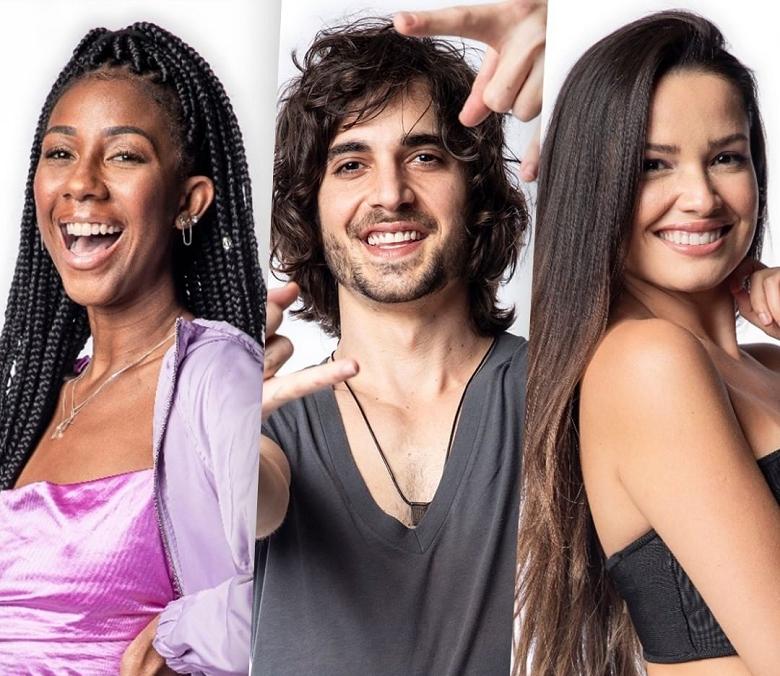 Fiuk, Juliette e Camilla de Lucas são os finalistas do BBB 21. (Foto: Reprodução/ Globo)