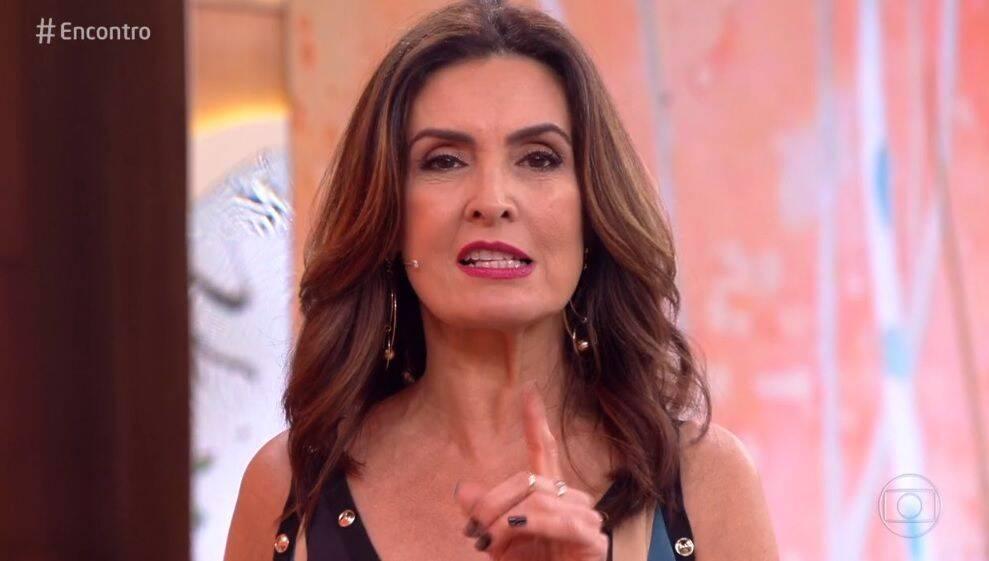 """A apresentou manifestou a sua indignação no programa """"Encontro"""" desta segunda-feira, 17 (Foto: Reprodução/ Globo)"""