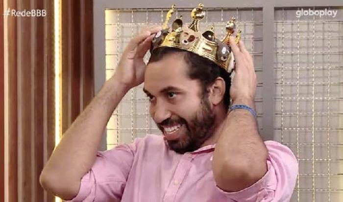 """E completou: """"Gilberto, você é nosso campeão"""". (Foto: Reprodução/ Globo)"""