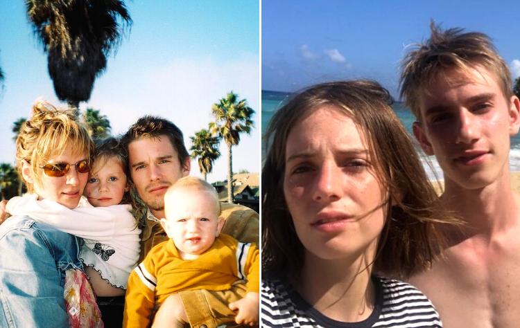 """Uma Thurman e Ethan Hawke - Os atores foram casados de 1998 a 2005 e tiveram dois filhos juntos: Maya Hawke, a Robin de """"Stranger Things"""" e Levon Thurman-Hawke. (Foto: Reprodução/ Instagram)"""