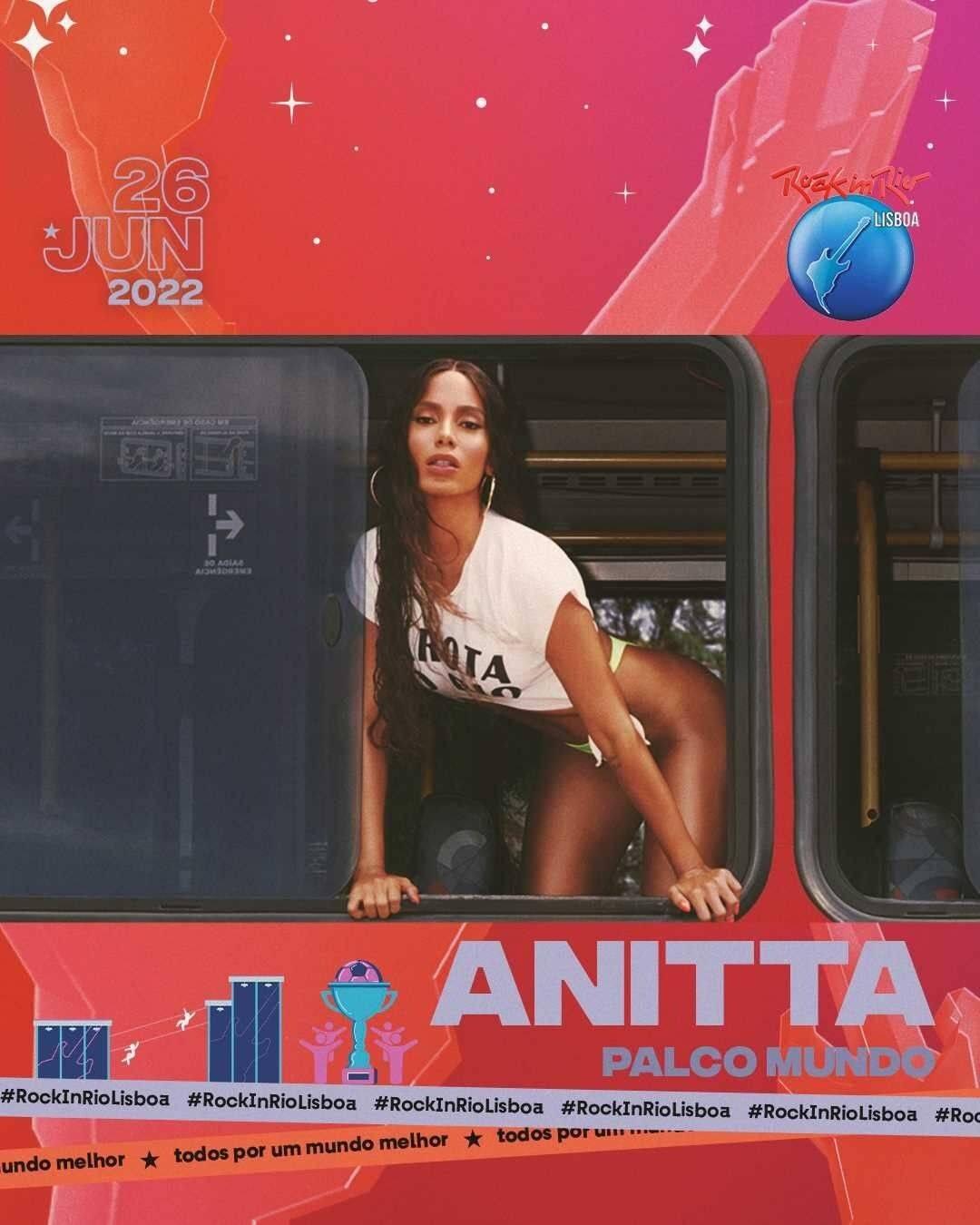 É a patroa! Anitta estará no Rock In Rio Lisboa. (Foto: Instagram)