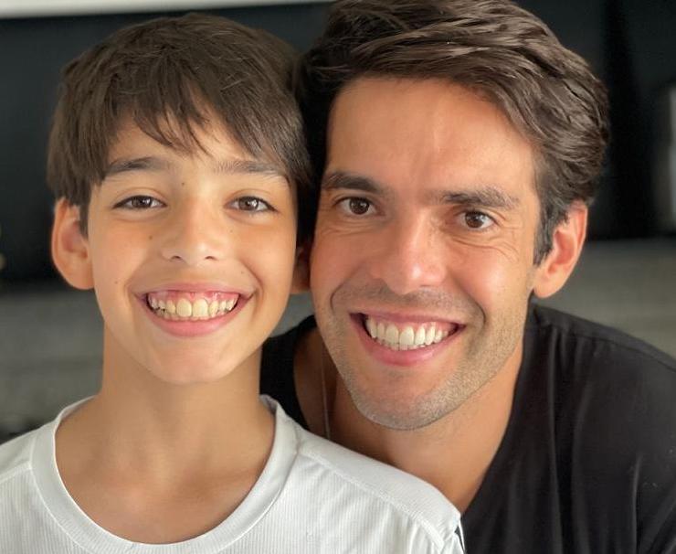 É dia de festa! Kaká celebrou o aniversário de 13 anos do filho Luca nas redes sociais. (Foto: Instagram)