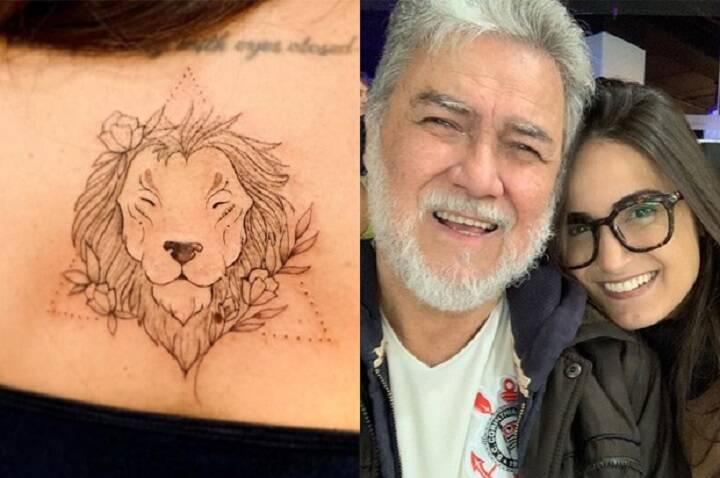 A jornalista Mari Palma tatuou um leão em homenagem ao pai. (Fonte: Instagram)