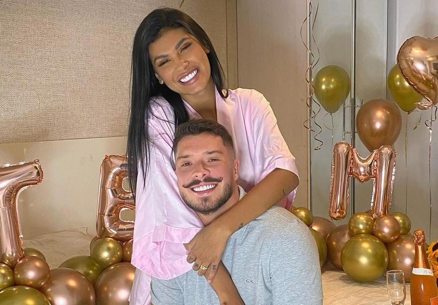 A ex-BBB 21 Pocah homenageou o noivo, Ronan Souza, em suas redes sociais. (Foto: Instagram)
