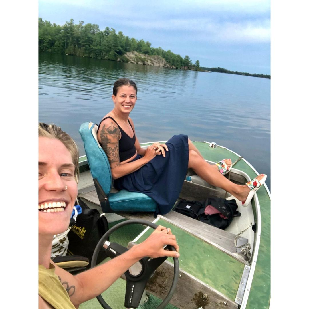 A ciclista canadense Georgia Simmerling (Foto: Instagram)