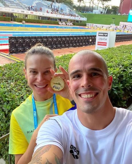 Bruno Fratus e Michelle Lenhardt (Foto: Instagram)