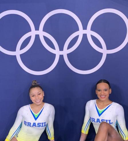 A ginasta brasileira ficou atrás apenas da estadunidense Sunina Lee, que pontuou 57.433, um pouco mais que Rebeca (Foto: Instagram)