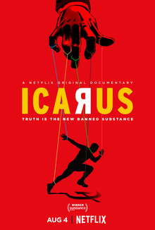 Ícaro - Icarus é um filme-documentário estadunidense de 2017 dirigido e escrito por Bryan Fogel e Mark Monroe, que segue a história de Fogel, um ciclista amador envolvido em um escândalo de doping com a ajuda do chefe do laboratório antidoping Grigory Rodchenkov (Foto: Instagram)