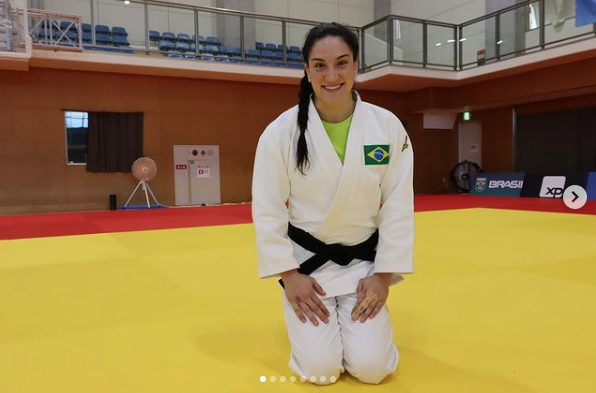 A conquista da judoca gaúcha Mayra Aguiar coloca o Brasil na 19ª colocação. (Foto: Instagram)