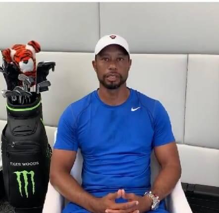 Tiger Woods foi verbalmente insultado por adversário (Foto: Instagram)