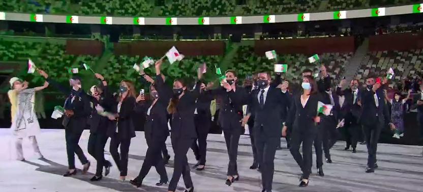 Delegação da Argélia. (Foto: TV Globo)