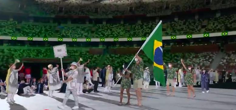 Delegação do Brasil (Foto: TV Globo)