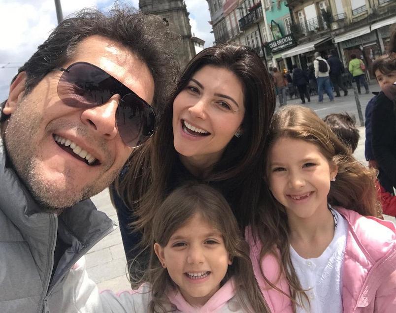 Daniel tem duas filhas, Lara, de 11 anos, e Luiza, de 9 (Foto: Instagram)